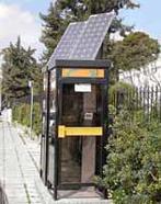 солнечные батареи на телефонной будке