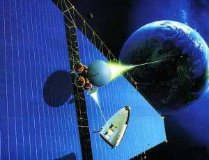 солнечная батарея в космосе