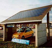 солнечные батареи на парковке