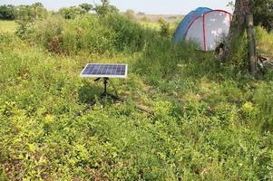 Солнечная батарея на туристической стоянке